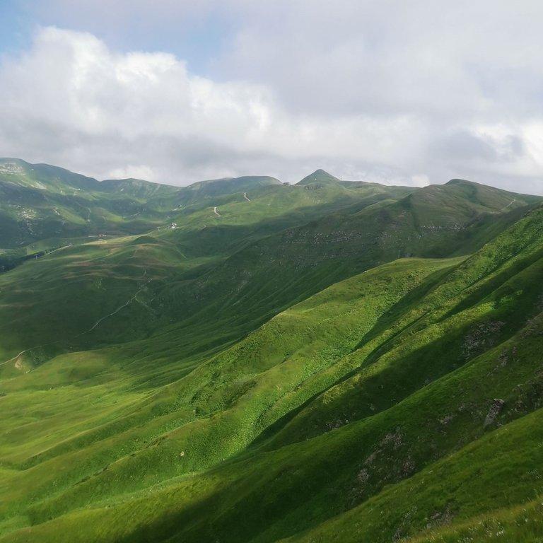 Sorgenti del Dardagna dalla vetta del Monte Spigolino