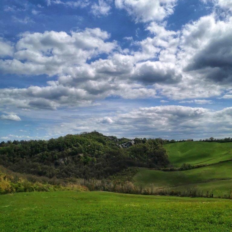 Panorama Valle del Fosso Acquafredda, Croara, San Lazzaro, Bologna